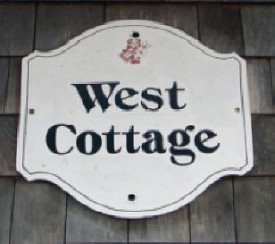 West Cottage sign